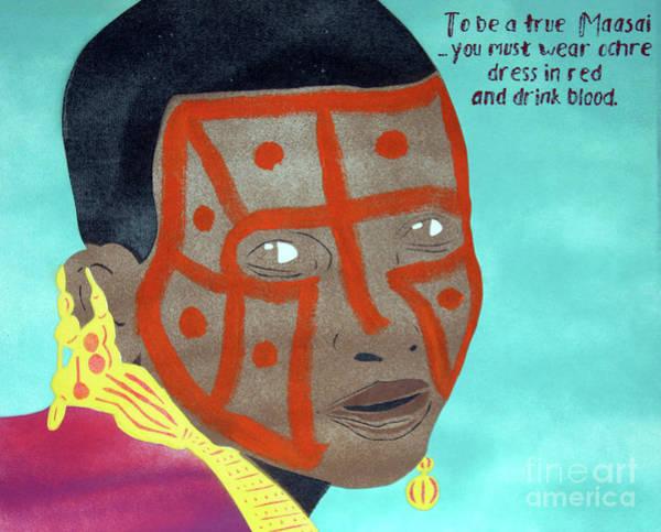 Donegal Painting - Maasai by Eddie Barron