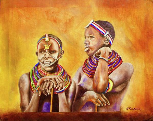 Painting - Maasai Legends by Richard Kimemia