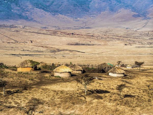Photograph - Maasai Village by Robin Zygelman