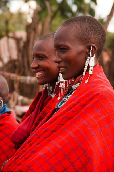 Tribal Woman Wall Art - Photograph - Maasai Women by Adam Romanowicz