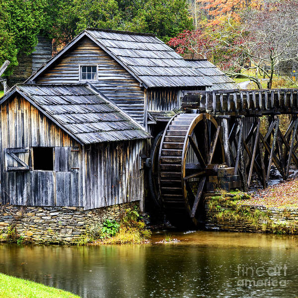 Photograph - Mabry Mill Along The Blue Ridge Parkway by Thomas R Fletcher