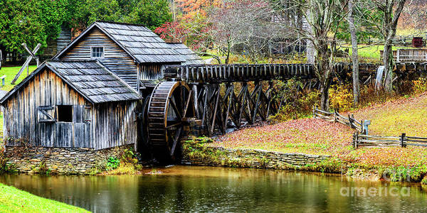 Photograph - Mabry Mill  Blue Ridge Parkway by Thomas R Fletcher