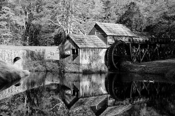 Photograph - Mabry Mill In Black And White by Jill Lang