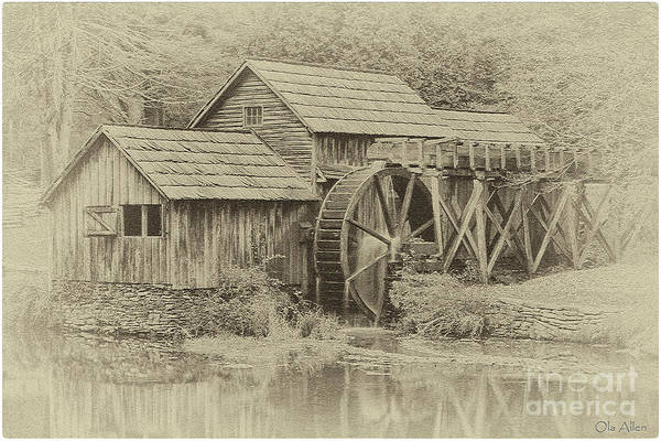 Photograph - Mabry Mill In Sepia by Ola Allen