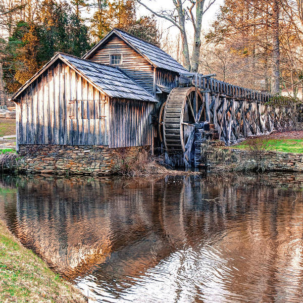 Photograph - Mabry Mill Reflections - Square Art by Gregory Ballos