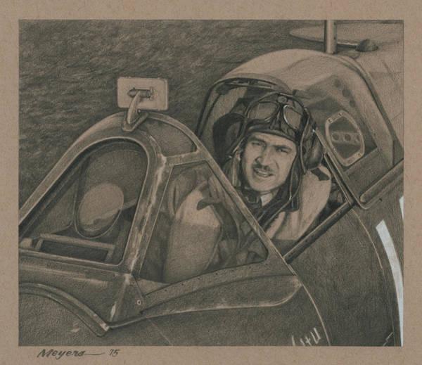 Eagle Drawing - Mac Mcpharlin by Wade Meyers