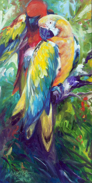 Painting - Macaw Pair by Marcia Baldwin