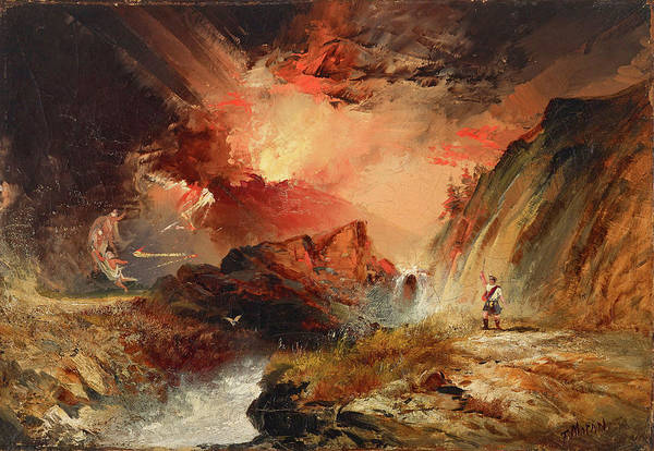 Wall Art - Painting - Macbeth And The Witches by Thomas Moran