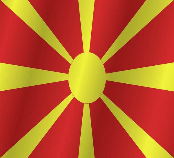 Macedonia Digital Art - Macedonia Flag by Artpics