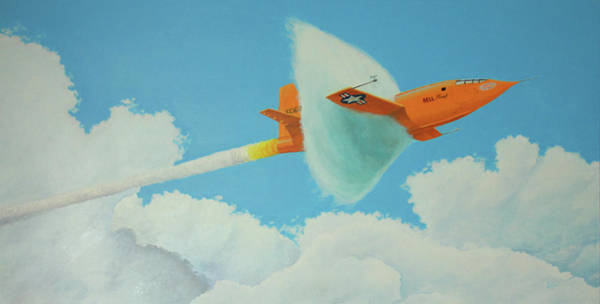 Breaking Sound Barrier Wall Art - Painting - Mach 1 by Donald Herion
