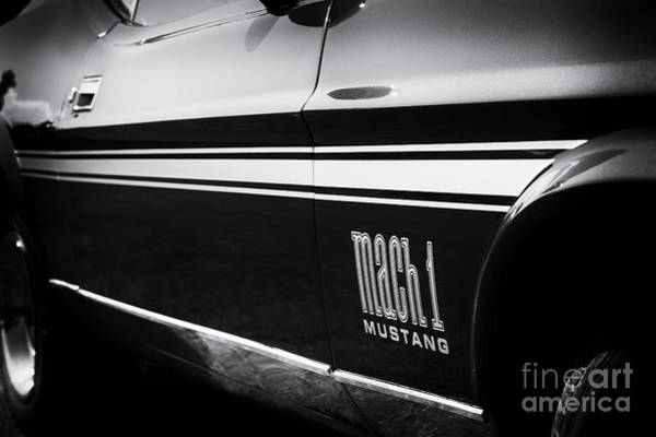 Ford Motor Company Photograph - Mach 1 Monochrome by Tim Gainey