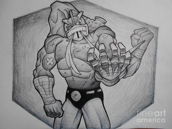 Pokemon Drawing - Machamp by Kyle Baber