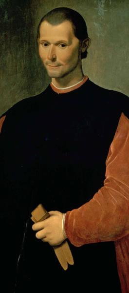 Statesman Wall Art - Painting - Machiavelli by Santi di Tito