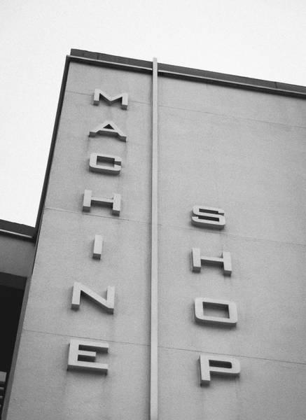 Memphis Design Wall Art - Photograph - Machine Shop by Jon Woodhams