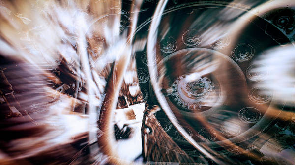 Photograph - Machine Speed Warp In Blur by John Williams