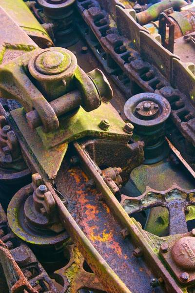 Photograph - Machinery Detail by Polly Castor