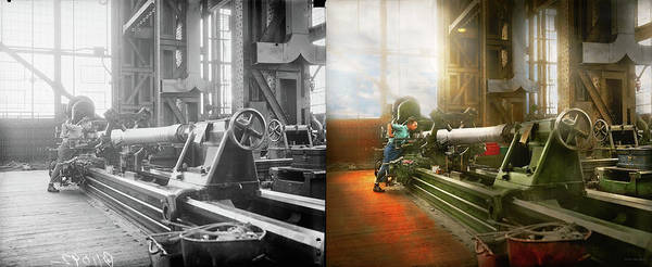 Photograph - Machinist - Lock, Stock, And Barrel 1936 - Side By Side by Mike Savad