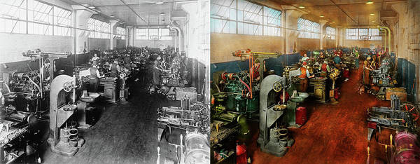 Photograph - Machinist - Machinists In Training 1918 - Side By Side by Mike Savad