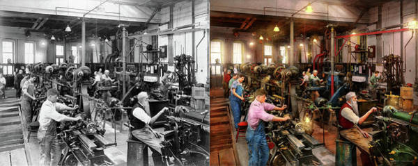 Photograph - Machinist - The Master Class 1920 - Side By Side by Mike Savad