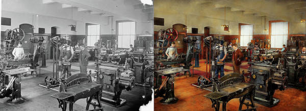 Photograph - Machinist - The Standard Way 1915 - Side By Side by Mike Savad