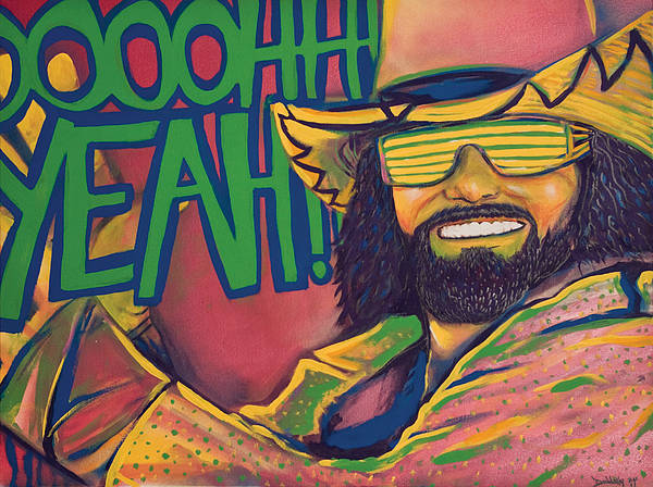 Wwe Wall Art - Painting - Macho Man by Derek Donnelly