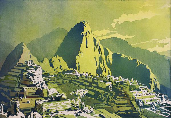 Wall Art - Painting - Machu Picchu Moonlit by Ryan Fox