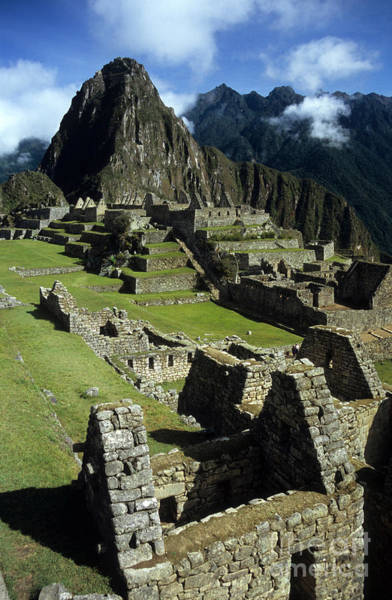 Photograph - Machu Picchu New World Wonder by James Brunker