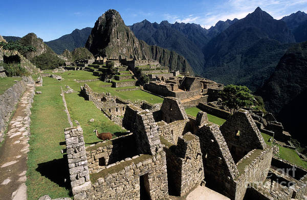Photograph - Machu Picchu Residential Sector by James Brunker