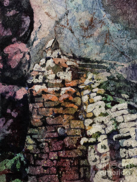 World Heritage Site Painting - Machu Picchu Ruins- Peru by Ryan Fox