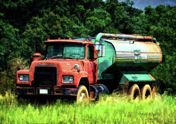 Heavy Duty Truck Wall Art - Photograph - Mack Farm Truck by Sandi OReilly