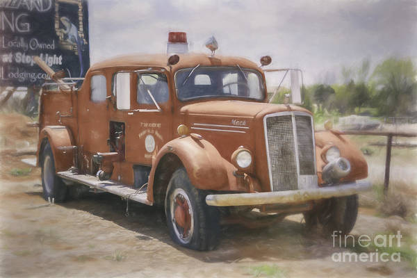 Mack Fire Truck  Art Print