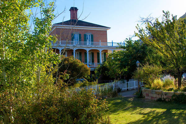 Photograph - Mackay Mansion From Garden by Bonnie Follett