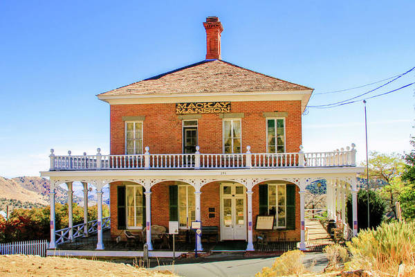 Photograph - Mackay Mansion Of Virginia City by Bonnie Follett