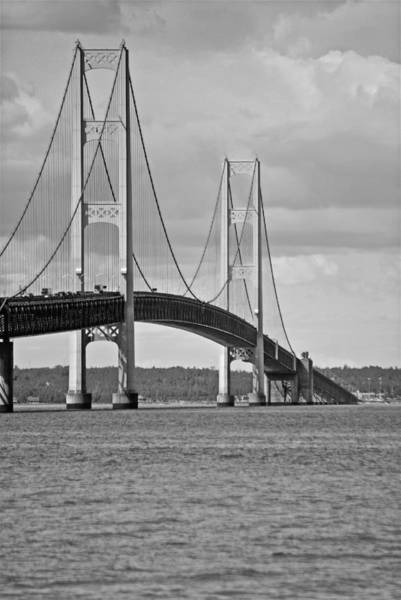 St Ignace Wall Art - Photograph - Mackinac Bridge 6111 by Michael Peychich