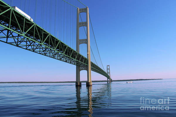 St Ignace Wall Art - Photograph - Mackinac Bridge by Art Kurgin