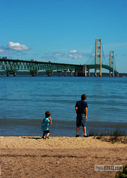 Photograph - Mackinac Bridge Boys by Jeff Kurtz