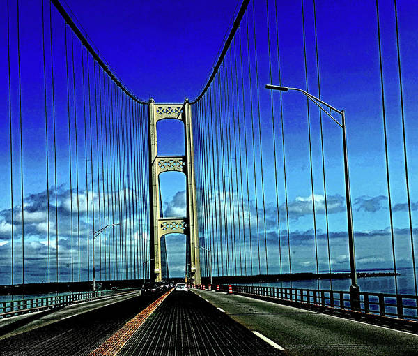Digital Art - Mackinac Bridge July 2017 by Joseph Coulombe