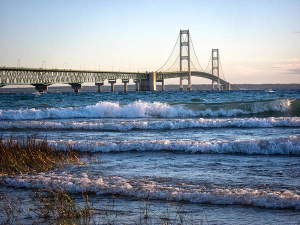 St Ignace Wall Art - Photograph - Mackinac Bridge Michigan by Mary Lee Dereske