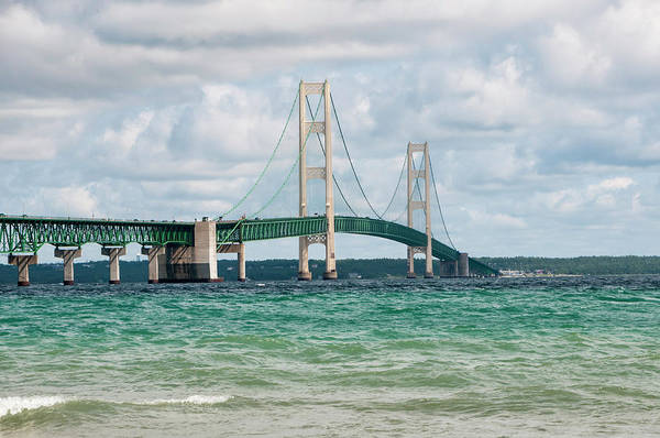 St Ignace Wall Art - Photograph - Mackinac Bridge by Phyllis Taylor