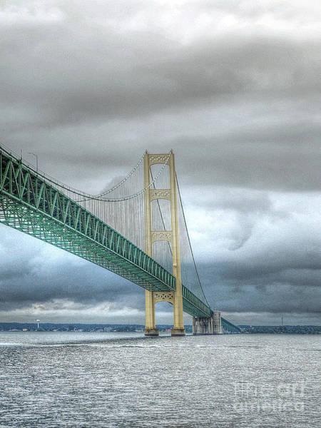 I-75 Photograph - Mackinac Bridge by Randy Pollard