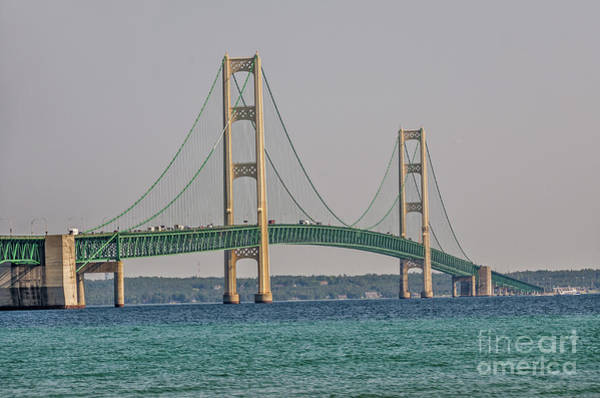 Photograph - Mackinac Bridge by Sue Smith
