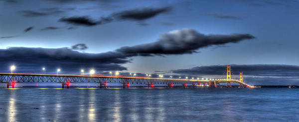 Up North Photograph - Mackinac Bridge   by Twenty Two North Photography
