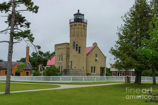 Michilimackinac Wall Art - Photograph - Mackinac Point Light by Jennifer White