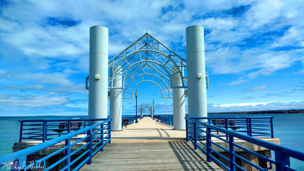 Michilimackinac Wall Art - Photograph - Mackinaw City Pier by Michael Rucker