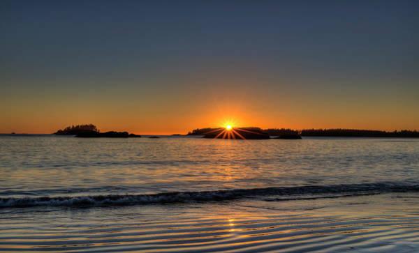 Photograph - Mackinsie Beach Sun Burst by Mark Kiver
