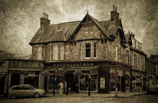 Photograph - Macnaughtons Of Pitlochry. Perthshire. Sepia by Jenny Rainbow