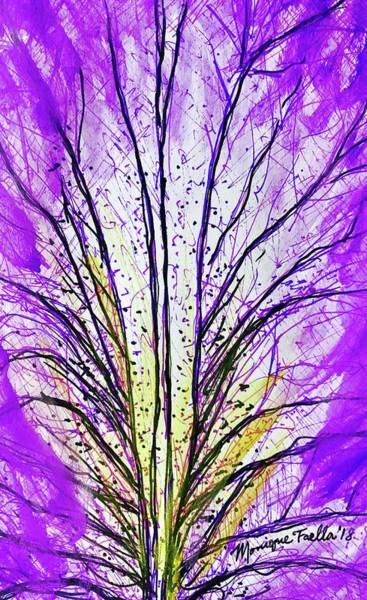 Macro Iris Petal Art Print