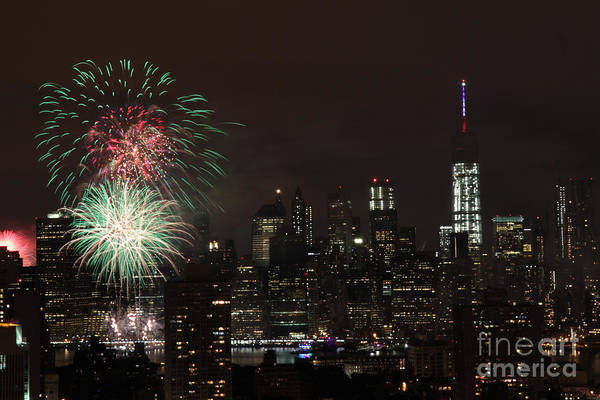 Photograph - Macy's July 4th 2015 Fireworks-1 by Steven Spak