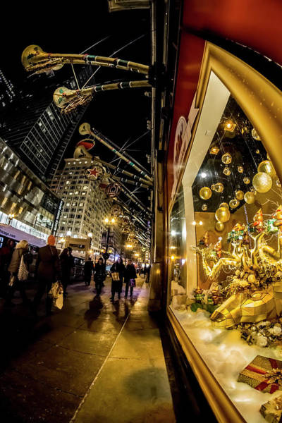 Photograph - Macys Xmas Display In Chicago by Sven Brogren