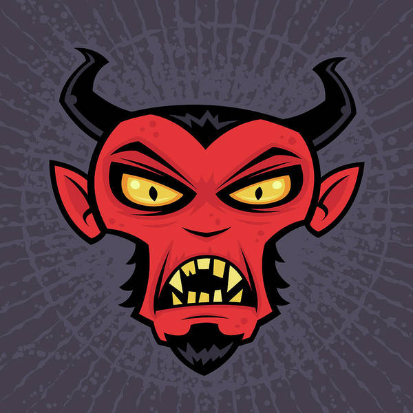 Halloween Digital Art - Mad Devil by John Schwegel